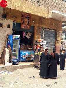 A Scene from Mukattam, an area in Cairo where mostly Coptic Chri