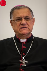 Israel, June 2014 Latin Patriarch Fouad Twal portrait. Photo taken in the Latin Patriarchate in Jerusalem.