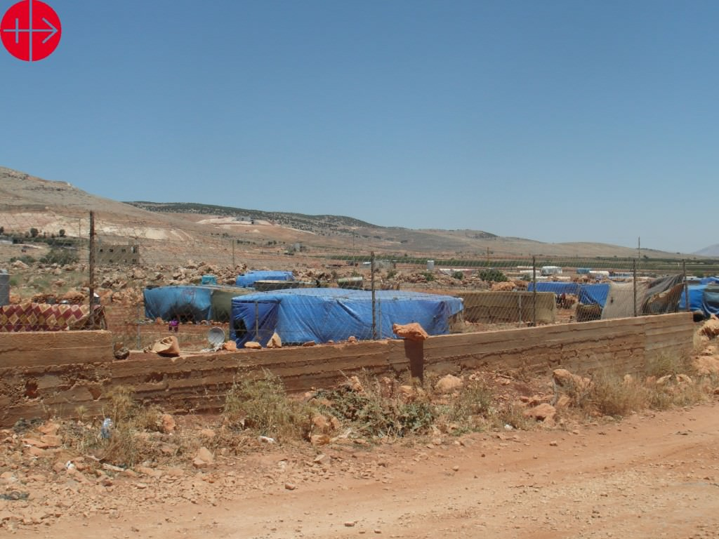 Refugee camps, near Baalbeck
