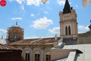 The roof of the Cathderal in Odesa under repair. UKRAINE / ODESA-SIMFEROPOL-LAT 14/00147 Repair of the roof at the Cathedral in Odesa