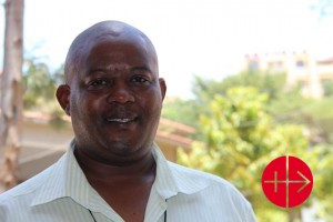 """""""I entered the seminary to become a priest and left it to become a brother"""", says Brother John from the Order of the brothers of St. Joseph in the Archdiocese of Mombasa in Kenya. Thanks to the scholarship of ACN he could follow his studies and helping today with the administration of projects in the Archdiocese, where Catholics lives in a Muslim environment. The last massacre from extremist Muslims against Christians was in 2007. Since then there are still strong tensions between both religions. the Catholic church implemented peace building programmes. """"It is a challenge to secure peace but there is hope"""", he tells the delegation of ACN, who visited Mombasa in October 2015."""