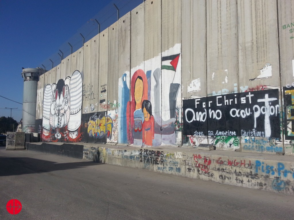 There are Christians living on both sides of the ISraeli Separation wall that separates the occipied territories from Israel.