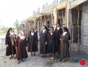 In the diocese of Morondava in 2015, the carmeliites Sisters cannot wait to get in their new home!