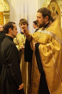 RUSSIA / BELGOROD-ORT 15/00036 Education grant for 111 students at the seminary in Belgorod for the akad. year 2015/2016: Unction of Seminarian at the Orthodox Seminary Belgorod