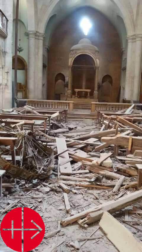 Syria, Aleppo April 2015Damage to Christian quarter of Aleppo a