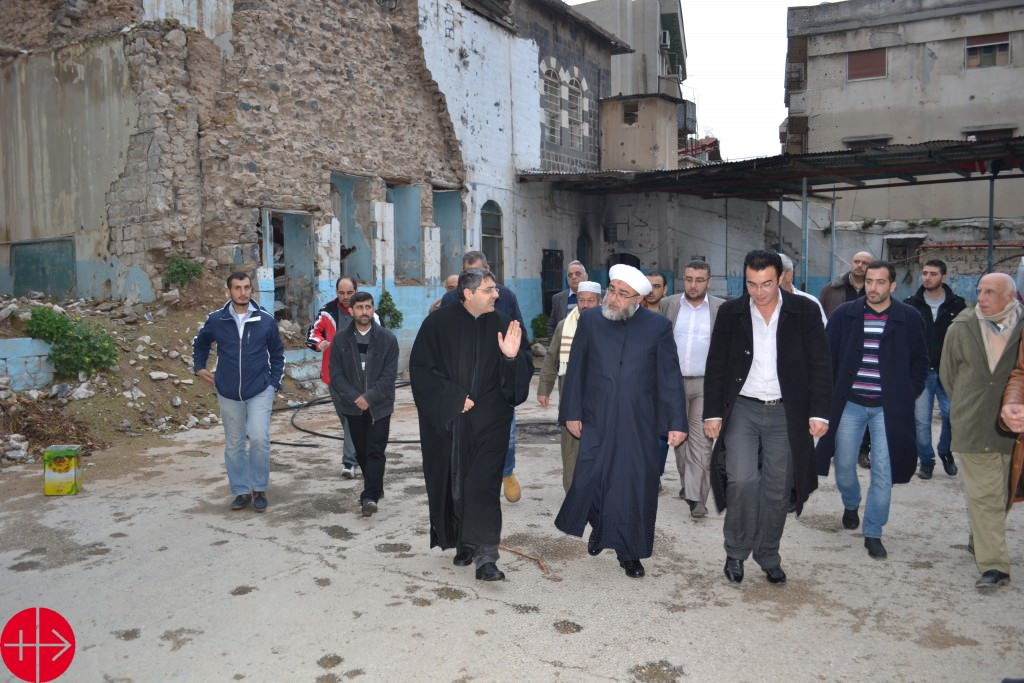 Old homs - Director of Awkaf visit the kitchen SYRIA / NATIONAL
