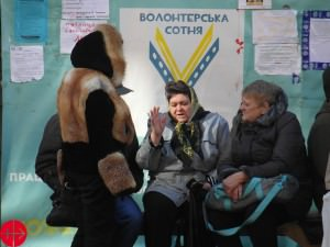 Ukraine, Kyiv 20.10.2014Refugees from east Ukraine at centre in